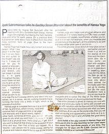 Kriyacharya Jyoti Times Of India 2003