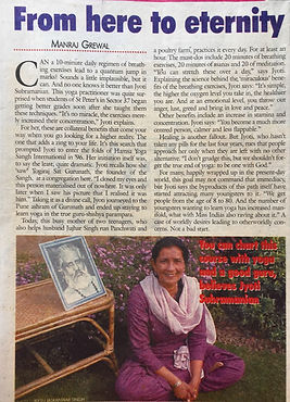 Kriyacharya Jyoti Indian Express 2002
