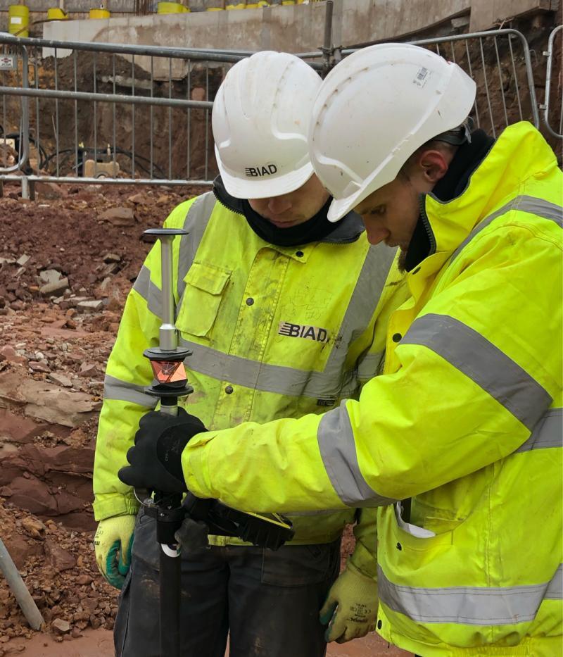 Mitchell van Zyl and Jack Van Aston Hewitt working on the Legacie Developments Ltd project in Liverpool.