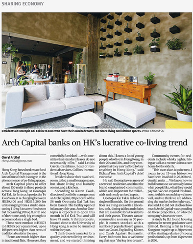 Feature story in newspaper (SCMP)