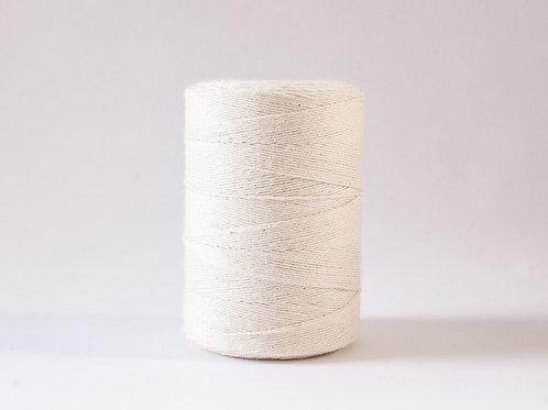 FIBER: white warp string