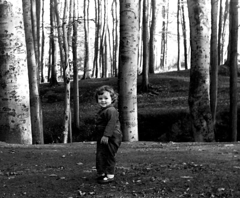 Joyful Toddler in the Woods   Photo by Geoffrey Clark