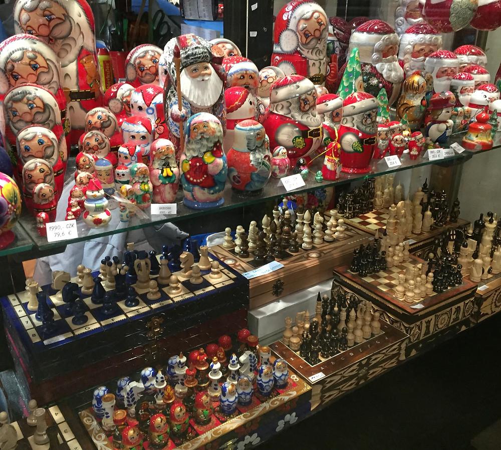Tchotchke Shop in Prague. Photo by Martha Clark Scala