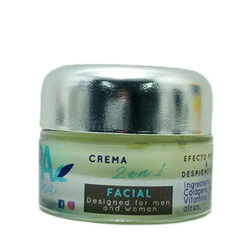 CREMA FACIAL 2en1 (Despigmentante y Antiedad) 50 gramos
