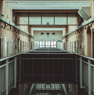Interieur vrouwengevangenis 3de verdieping