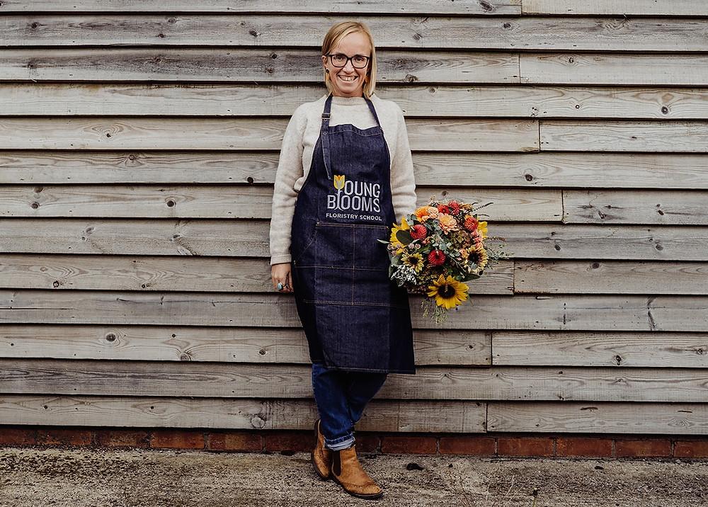 Grace Farrimond, founder, Young Blooms florists