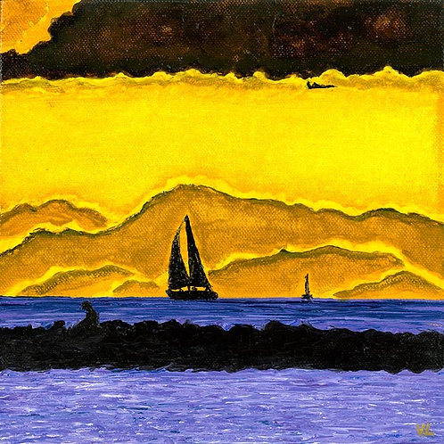 48. Yellow Sky.  2019  (canvas print)