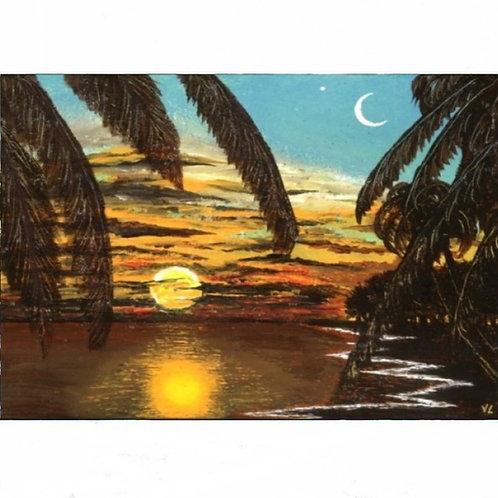 116.  Sun and Moon.  2019   (canvas print)
