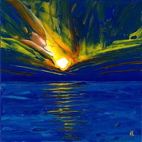 39.  A Fiery Sunset.  2019  (canvas print)