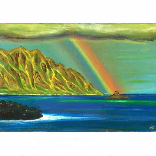 100.  Rainbow over the Ocean.  2020  (canvas print)