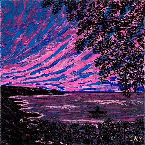 44. Pink Sunset.  2019  (canvas print)