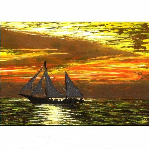115.  Sunset Cruise.  2020  (canvas print)