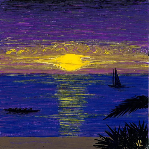 26. Purple Sunset.  2019  (canvas print)