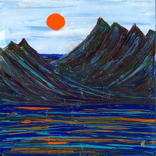 24. Orange Sun.  2019  (canvas print)