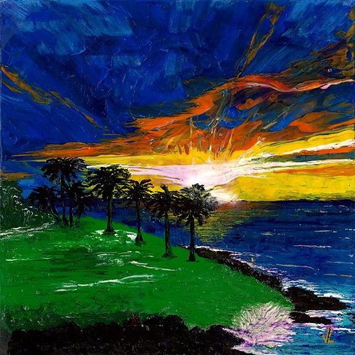 49.  Magnificent Sunset.  2019  (canvas print)