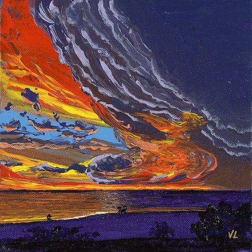 113.  Gorgeous Sunset.  2019  (canvas print)
