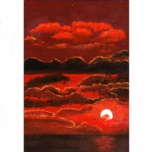 108.  Scarlet Sunset.  2020  (canvas print)