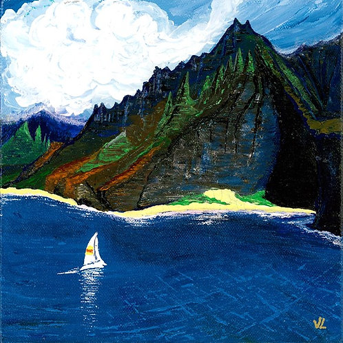 97. Hawaiian Mountains.  2019  (canvas print)
