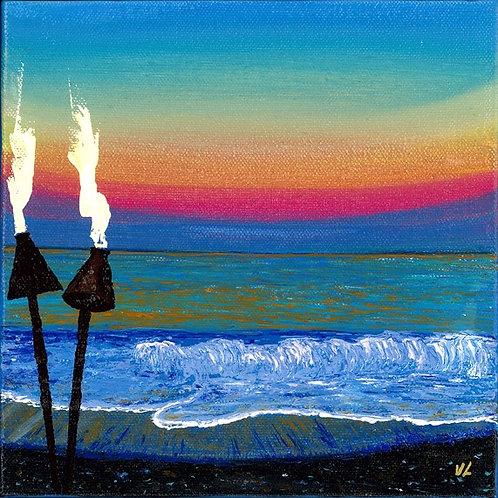 51. Hawaiian Torches.  2019  (canvas print)