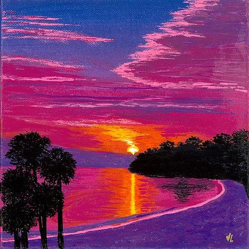 86. Quiet Sunset.  2019  (canvas print)