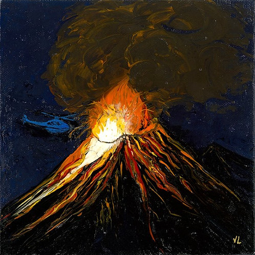14. Volcano Woke Up.  2019  (canvas print)