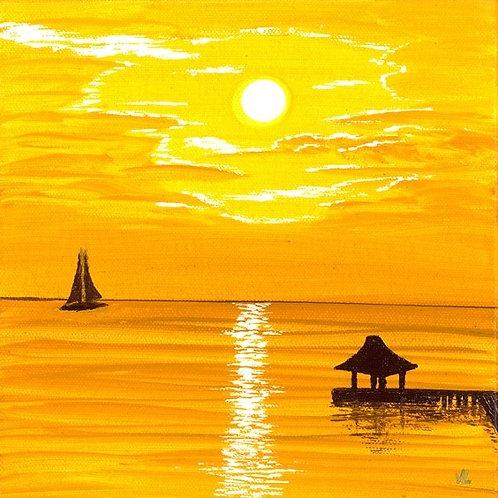 96. Honey  Sunset.  2019  (canvas print)