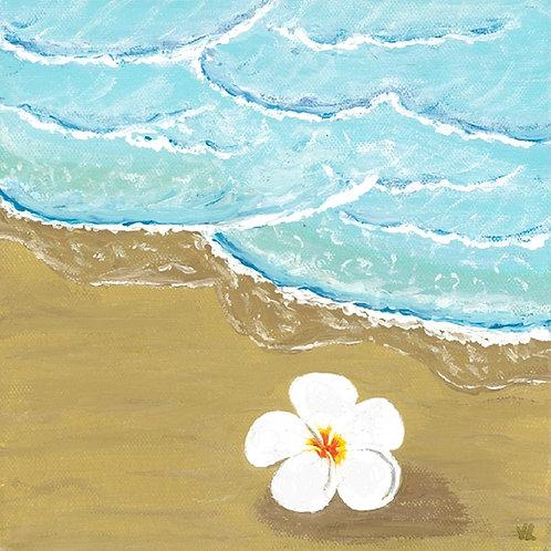 69. Flower on the Beach.  2019  (canvas print)