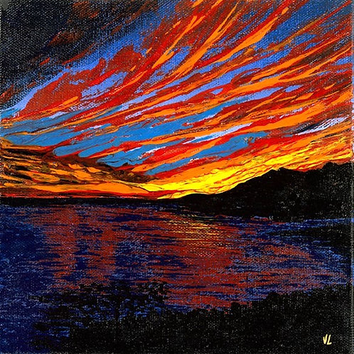 28. Orange Sunset.  2019  (canvas print)