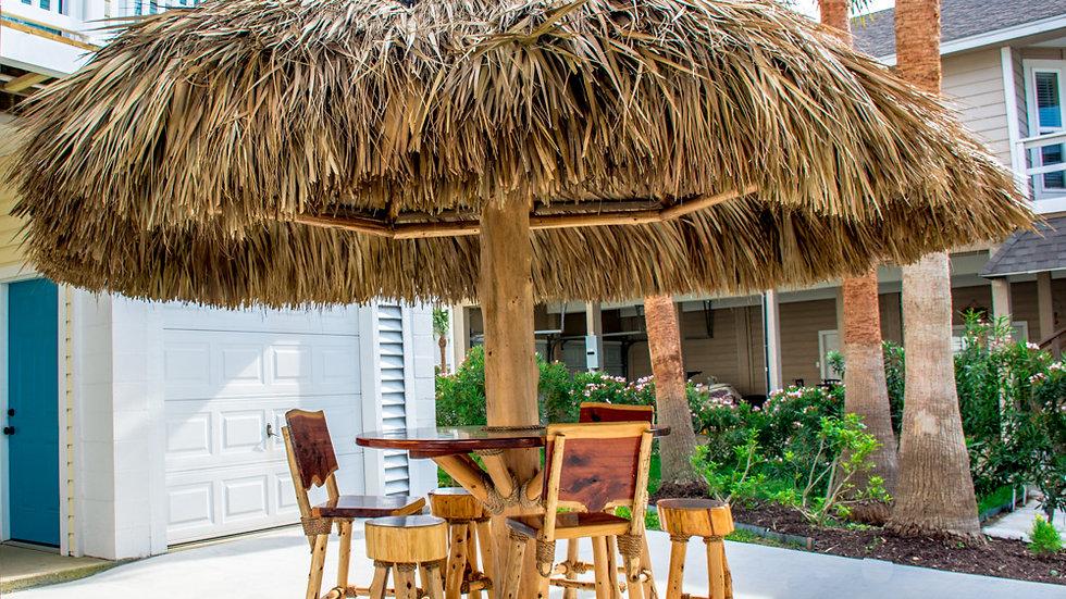 12u0027 Single Pole Texas Cedar Umbrella Palapa