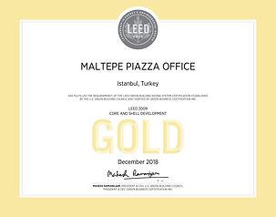 Maltepe Piazza Office_LEED Certificate.j