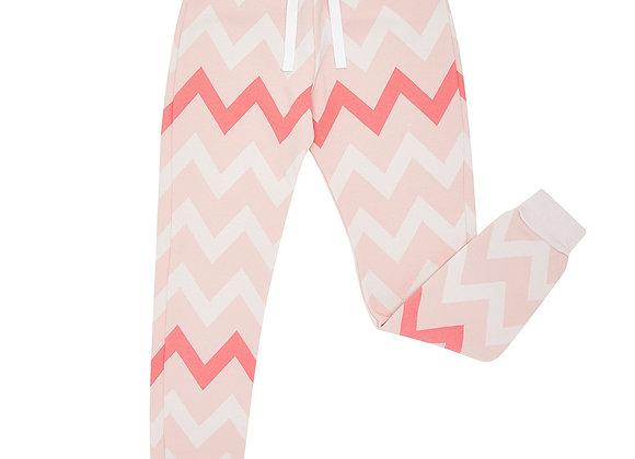 Flash Pink Chevron Sweatpants