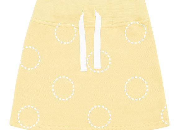 Mustard Circles Skirt