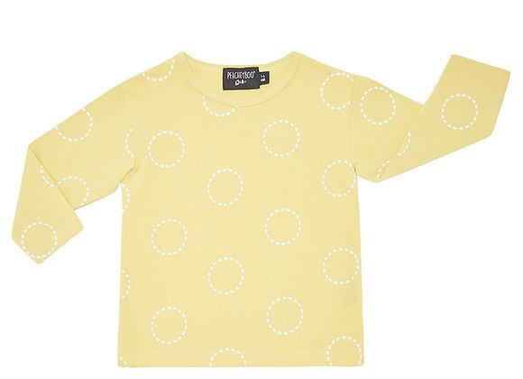 Mustard Circles Long Sleeve Tee
