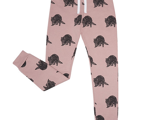 Raccoon Print Sweatpants