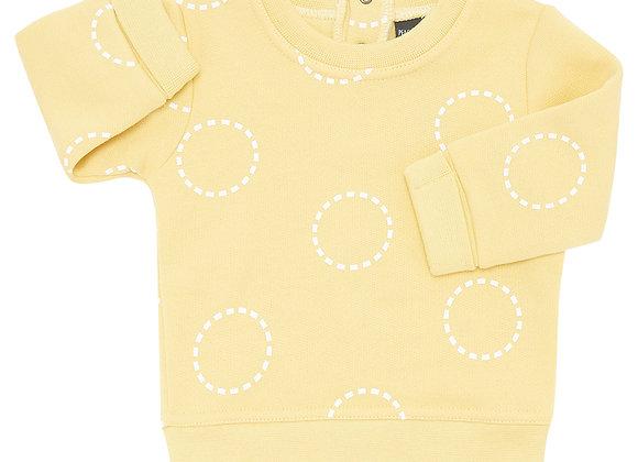 Mustard Circles Sweater