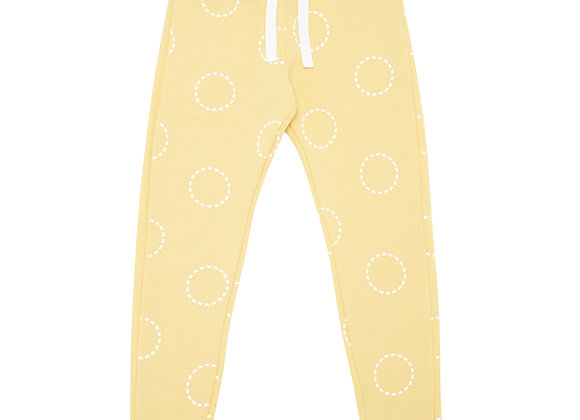 Mustard Circles Sweatpants