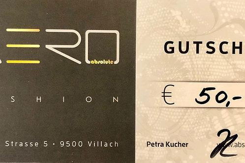 Absolute AERO Geschenksgutschein 50,00€