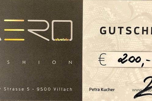 Absolute AERO Geschenksgutschein 200,00€