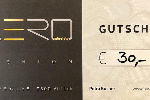 Absolute AERO Geschenksgutschein 30,00€