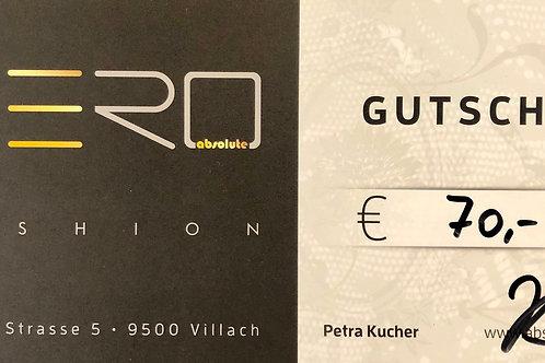 Absolute AERO Geschenksgutschein 70,00€