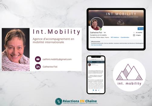 Réalisations pour Int.Mobility, Agence d'accompagnement en mobilité internationale