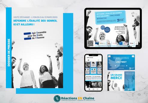 Réalisations pour Agir Ensemble pour les Droit Humains, ONG Lyonnaise
