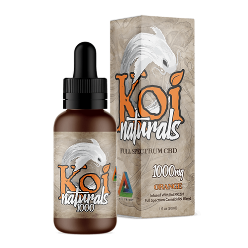 Koi Naturals Hemp Extract CBD Tincture | Orange