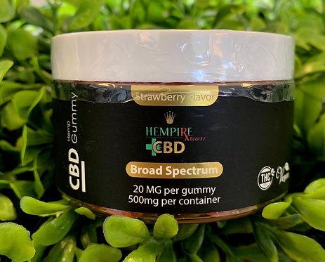 Hempire Broad Spectrum Gummies 500mg THC FREE
