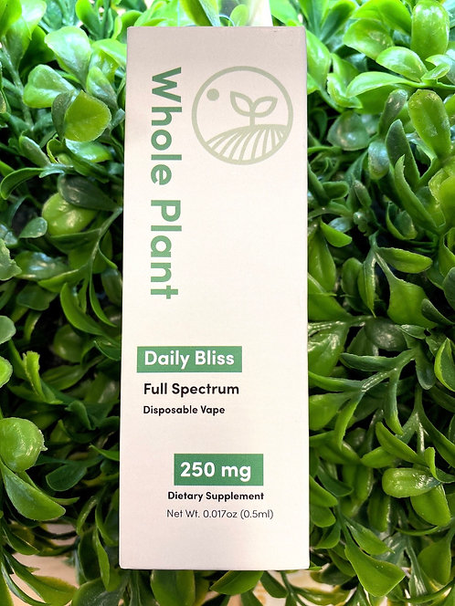 Whole Plant  Daily Bliss Disposable Vape 250mg(Full Spectrum)