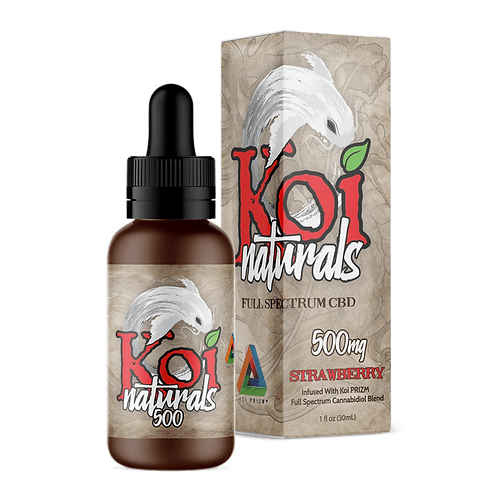 Koi Naturals Hemp Extract CBD Tincture | Strawberry 500mg
