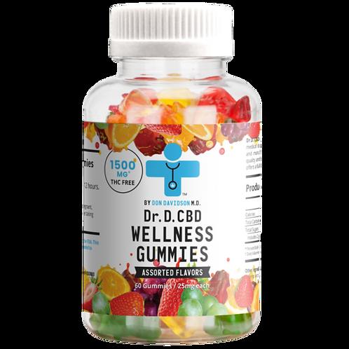 Dr. D. CBD Wellness Gummies – 1500mg –  – 60 count