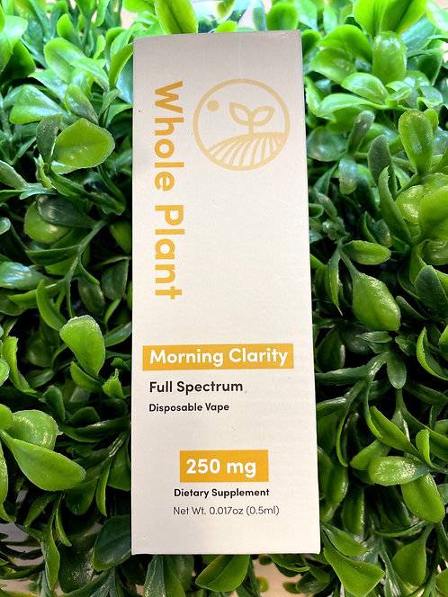 Whole Plant Morning Clarity Disposable Vape 250mg (Full Spectrum)
