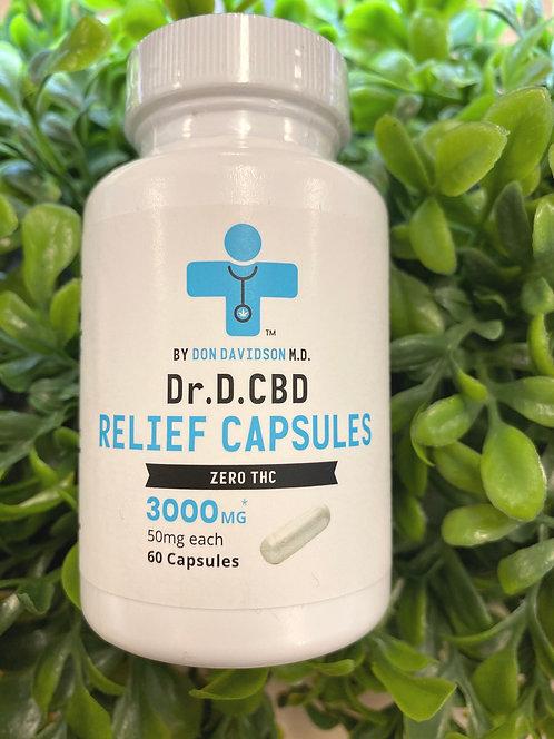 Dr D CBD Capsules 60ct 3000mg/ 50mg per capsule