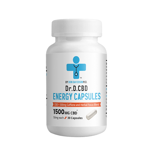 Dr D Energy Capsules 1500mg THC Free